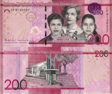 DOMINICAN REPUBLIC 200 Pesos, 2016, P191, Redesigned And New Signature, UNC - Dominicana