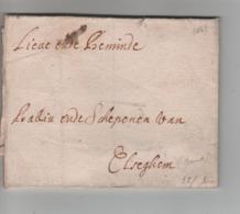 PR7583/ Précurseur LAC - BMI Elseghem (Gent) 1669 (défraichi) - 1621-1713 (Spanish Netherlands)