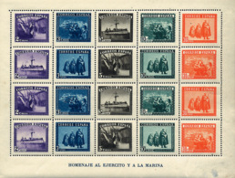 Ref. 86018 * NEW *  - SPAIN . 1938. HONORING THE ARMY AND THE NAVY. EN HONOR AL EJERCITO Y LA MARINA - 1931-Hoy: 2ª República - ... Juan Carlos I