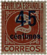 Ref. 209344 * NEW *  - SPAIN . 1938. VALUES. CIFRAS - 1931-Hoy: 2ª República - ... Juan Carlos I