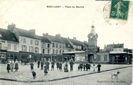 MONTLERY - Place Du Marché. (Magasins, Plomberie, Charcuterie, Restaurant). (91 Essonne). - Montlhery