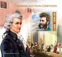 SIERRA LEONE 2019 - J. Strauss II, W.A. Mozart. S/S. Official Issue - Musique