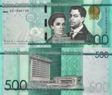 DOMINICAN REPUBLIC 500 Pesos, 2016, P192, Redesigned And New Signature, UNC - Dominicana