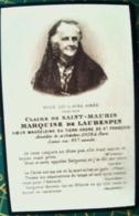 FAIRE PART DE DECES DE MARQUISE DE LAUBESPIN CLAIRE DE SAINT MAURIS MEMENTO MORI  GENEALOGIE - 1914-18
