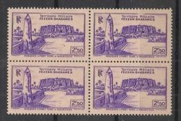 Fezzan - 1946 - N°Yv. 33 - Fort De Sebha 2f50 Violet - Bloc De 4 - Neuf Luxe ** / MNH / Postfrisch - Fezzan (1943-1951)