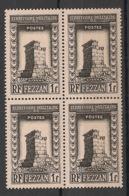 Fezzan - 1949 - N°Yv. 43 - Djerma 1f Noir - Bloc De 4 - Neuf Luxe ** / MNH / Postfrisch - Fezzan (1943-1951)