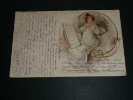 """Rare CPA, Carte Postale Publicitaire, Pub. VALS Précieuse, Ilustrée Art Nouveau """"On La Boit Pure"""", 1904 - Pubblicitari"""