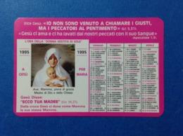 1995 Calendarietto Calendario Santino Holy Card Image Pieuse GAM Gioventu' Ardente Mariana - Santini