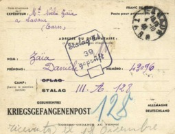 Franc De Port Poste Pour Prisonniers De Guerre De Lavaur Vers Stalag III A 39 Gepruft KRIEGSGEFANGENENPOST RV - Militaria