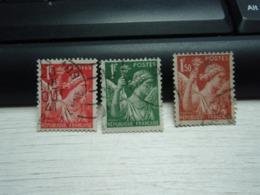 3 Timbres Hourriez 1 Franc, 1,50 Foblitérés - 1939-44 Iris