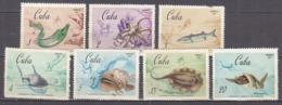 G0594 - CUBA Yv N°1158/64 * POISSONS (1159 DEFECTEUSE) - Cuba