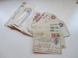 USA Belegeposten Mit 59 Stk. 1887 -1939 Social Philately Dr. Oskar Bolza Mathematiker Korrespondenz GA Mit Zusatzfrankat - Sammlungen (ohne Album)