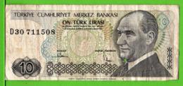 TURQUIE / 10 TÜRK LIRASI / 1970 - Turquia