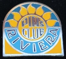PIN'S CLUB RIVIERA - CANTON DE VAUD - SUISSE - BLEU ET JAUNE N°38 / 125 -       (22) - Pin