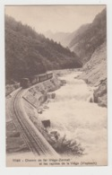 AB776 - SUISSE - Chemin De Fer Viège - Zermatt Et Les Rapides De La Viège - Vispbach - Passage Du Train - VS Valais
