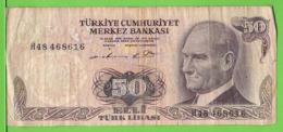 TURQUIE / 50 TÜRK LIRASI / 1970 - Turchia
