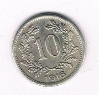 10 HELLER 1916  OOSTENRIJK /8287/ - Austria
