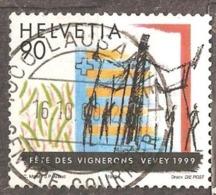 Switzerland: 1 Used Stamp From A Set, 50 Years Of Geneva Convention, 1999, Mi#1687 - Usati