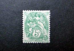 FRANCE 1900 N°111IIA * (BLANC. 5C VERT. TYPE IIA) - 1900-29 Blanc
