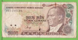 TURQUIE / 5000 TÜRK LIRASI / 1970 - Turkije