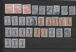 CHINA LOT POSTAGE DUE MINT AND USED - 1912-1949 République