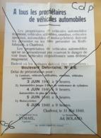 RARE   1940-45  Affiche  Charleroi - Affiches