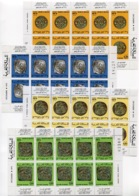 RC 14323 MAROC N° 746A / 749A ANCIENNES MONNAIES MAROCAINES FEUILLES DE 10 EXEMPLAIRES TETE BECHE COTE 70,00€ NEUF ** - Marokko (1956-...)