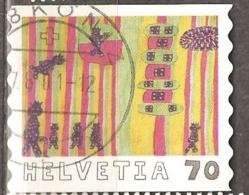 Switzerland: 1 Used Stamp From A Set, International Children Drawing Competion, 2000, Mi#1733 - Suisse