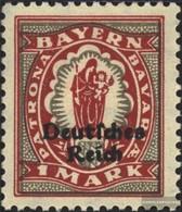 Tedesco Empire 129 MNH 1920 Baviera-Addio - Nuovi