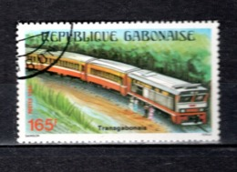GABON  N° 571  OBLITERE  COTE 1.50€   TRAIN - Gabun (1960-...)