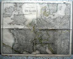 Carta Geografica Teatro Della Guerra Del 1870 Civelli Guerra Franco Prussiana - Altre Collezioni