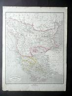 Carta Geografica Turchia Europea Grecia Isole Ionie Pagnoni Milano Fine '800 - Altre Collezioni
