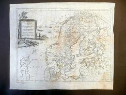 Carta Geografica Regni Di Svezia Danimarca Norvegia Livonia Carelia Zatta 1783 - Altre Collezioni