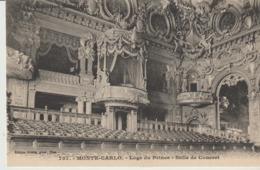 CP - MONTE CARLO - LOGE DU PRINCE - SALLE DE CONCERT - 757 - GILETTA - Opernhaus & Theater