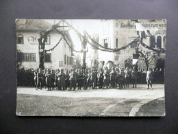 Fotocartolina Caldaro Bolzano 13 Marzo 1915 Adunata Militare Grande Guerra WW1 - Militaria
