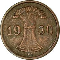 Monnaie, Allemagne, République De Weimar, Reichspfennig, 1930, Karlsruhe, TTB - [ 3] 1918-1933 : Weimar Republic