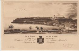 CP - LA PRINCIPAUTÉ DE MONACO VERS 1860 - VUE DE MONACO DU COTE DU NORD - AU VIEUX MONACO - - Tarjetas Panorámicas