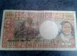 1 BILLET DE 1000 FRANCS OUTRE MER PAPEETE - Papeete (French Polynesia 1914-1985)