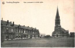 HOUDENG GOEGNIES ..... PLACE COMMUNALE ET NOUVELLE EGLISE - Belgique