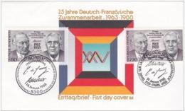 GERMANIA 1988 - XXV Ann. Cooperazione Franco/Allemande Jont Issue With France 2v. FDC - Gemeinschaftsausgaben