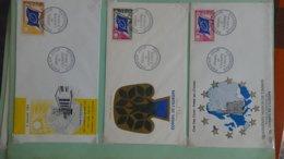 62 Enveloppes 1er Jour De France 1963 PORT OFFERT (lettre Verte)  Si Ce Lot Dépasse Les 10 Euros Soit 15cts/pièce - Timbres