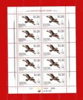 (St5) AFRIQUE DU SUD **1997 - Yvert 976 Bloc De 10- Antarctique Oiseau (MNH) Sans Trace De Charniere - Sud Africa (1961-...)