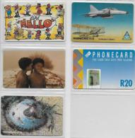 5 Cartes D' Afrique Du Sud RSA  Avions - Südafrika