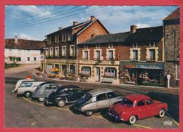 CPSM-86-MORTEROLLES-sur-SEMME- Hôtel Du Centre - Dauphine- DS21- 203 Peugeot -2CV , Station AZUR *SUP **2 SCANS - Other Municipalities