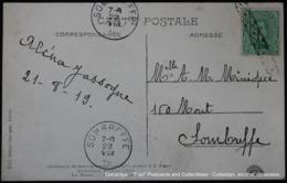 Bruxelles Brussel Brussels Cérémonie Koekelberg Messe 1919 Albert 5 Cent Oblitération Roulette Sombreffe - Postmark Collection