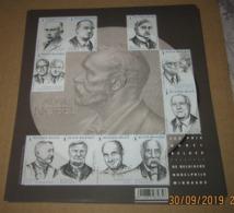 Blok 244** Nobel In België - 4636/45** De 10 Belgische Nobelprijswinnaars (Le Dix Prix Nobel Belges) - Belgium