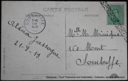 Bruxelles Brussel Brussels Cérémonie Koekelberg Bénédiction 1919 Albert 5 Cent Oblitération Roulette Sombreffe - Postmark Collection