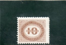 AUTRICHE 1894 * - Portomarken