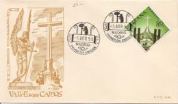 1959-ED. 1248 S.P.D. MONASTERIO DE LA STA. CRUZ DEL VALLE DE LOS CAIDOS - 1er. DIA CIRCULACIÓN - - FDC