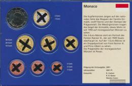 Monaco MON 9 2019 Stgl./unzirkuliert Stgl./unzirkuliert 2019 Kursmünze 2 Euro - Monaco